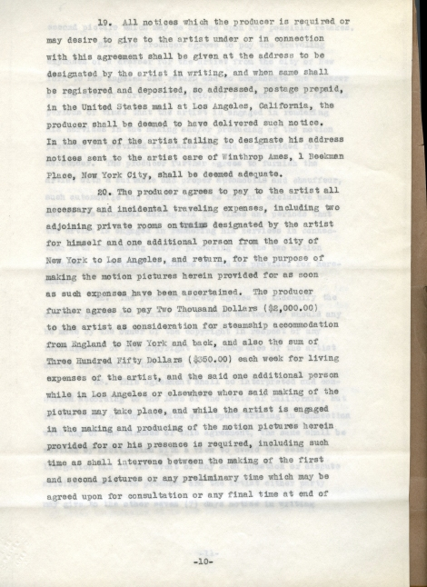 Arliss 20th Cent Contract 10