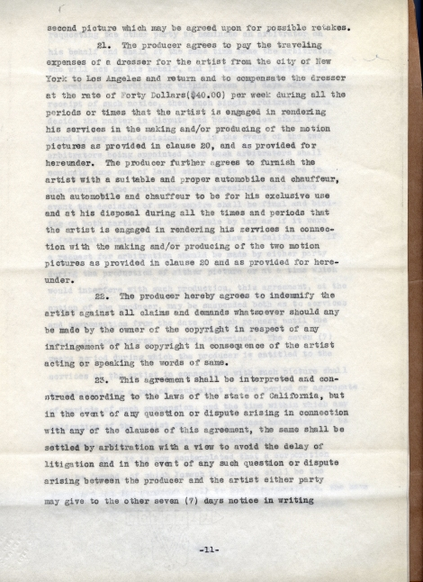 Arliss 20th Cent Contract 11