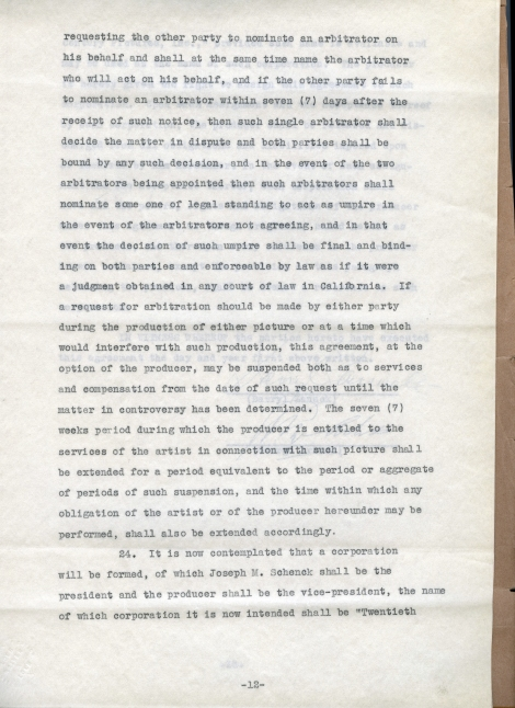 Arliss 20th Cent Contract 12