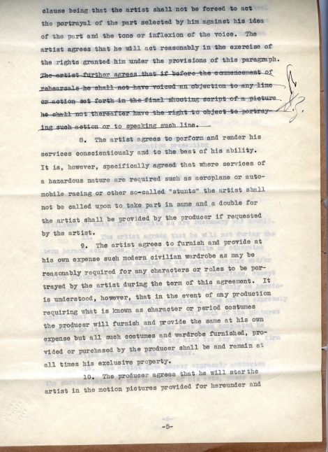 Arliss 20th Cent Contract 5