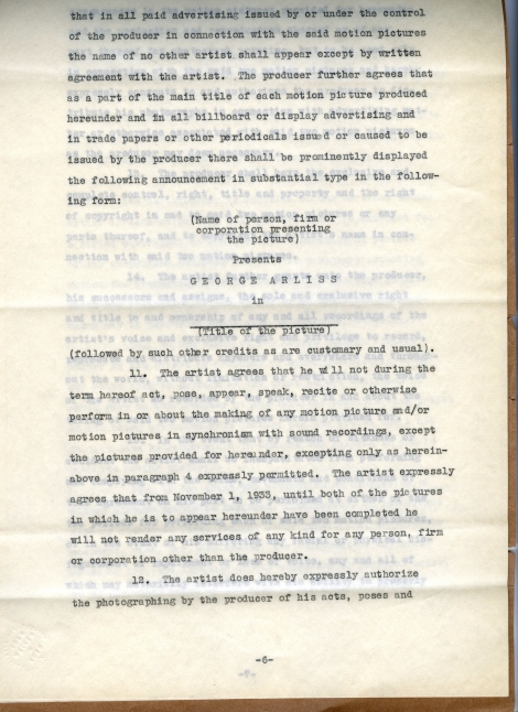 Arliss 20th Cent Contract 6