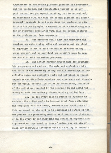 Arliss 20th Cent Contract 7