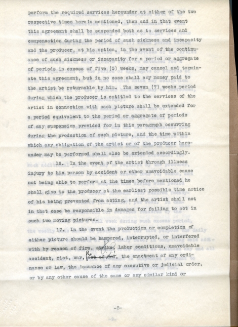 Arliss 20th Cent Contract 8