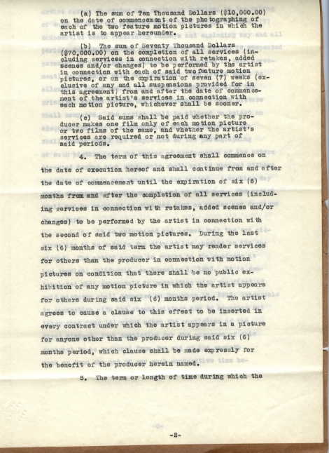 Arliss 20th Cent Contract 2