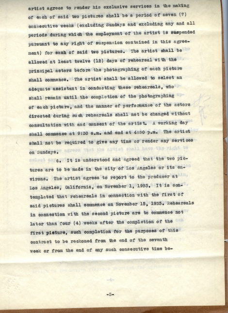 Arliss 20th Cent Contract 3